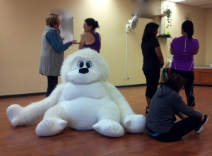 The ladies refused to acknowledge the 800 pound white gorilla in the room