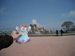 Flat Stanley at Buckingham Fountain