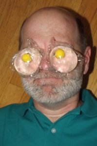 Don't put plastic on your eyes either