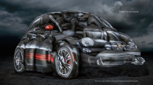 Fiat 500 Created With 13 Naked Models And Body Paint [Source: businessinsider.com]