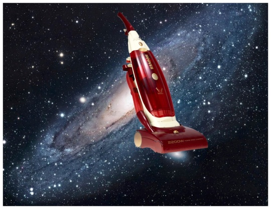 When scientists talked about a vacuum in space, I pictured something kind of different... like maybe a Dyson