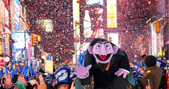 Count, down in Times Square