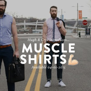 The muscle dress shirt from Hugh and Crye