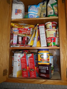 Before - when the cupboards were full