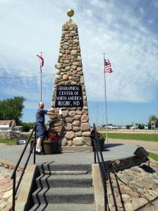The geographical center of North America - Rugby, North Dakota