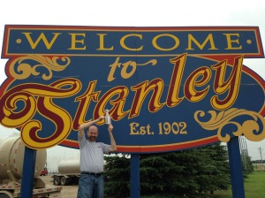 The coup de gras - Flat Stanley Cup makes it to Stanley, North Dakota