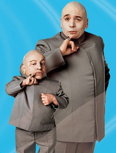 I wish I had a mini-me like Dr. Evil to stand in during the icky parts