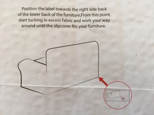 Directions for fitting the slip cover